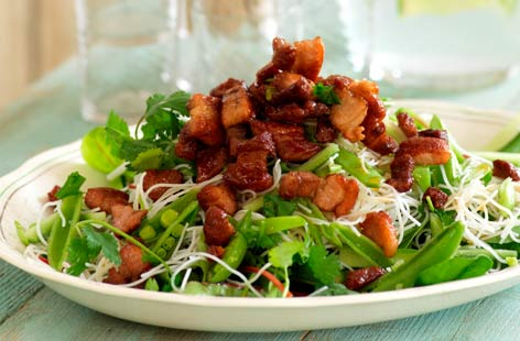 Crispy Pork and Noodle salad with a Sweet Maple Dressing 2 hero