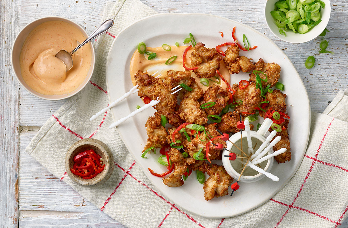 Fried miso chicken with sriracha mayo recipe