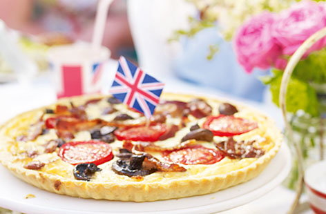 English breakfast quiche HERO