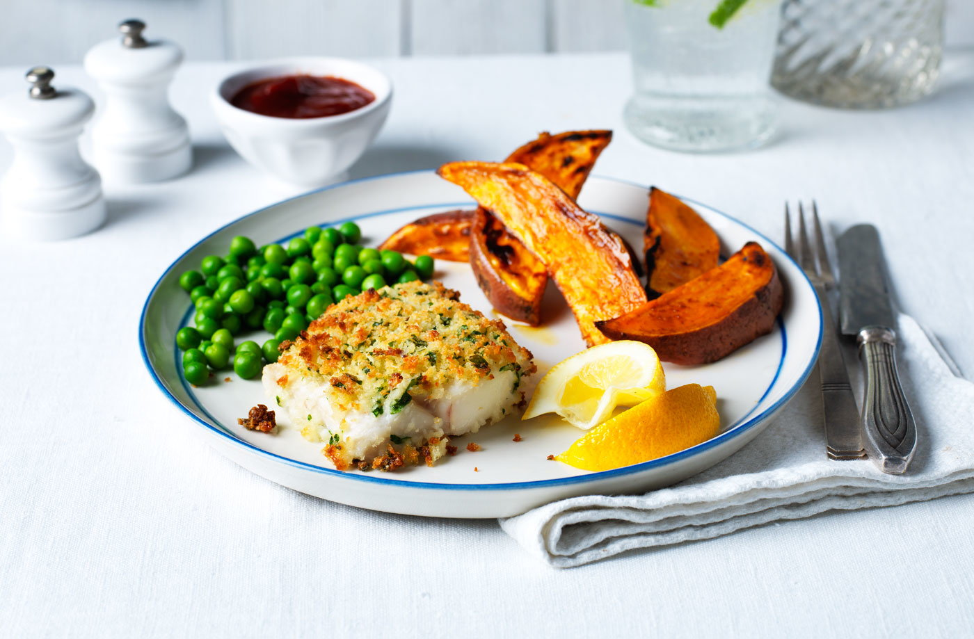 Healthy fish and chips tesco real food for Healthy fish recipes
