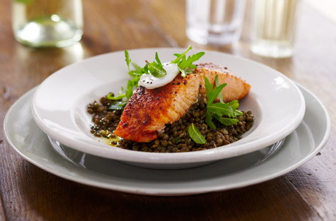 French RoastSalmonGreenLentils He
