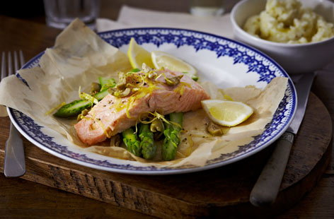 French salmonenpapillote Th
