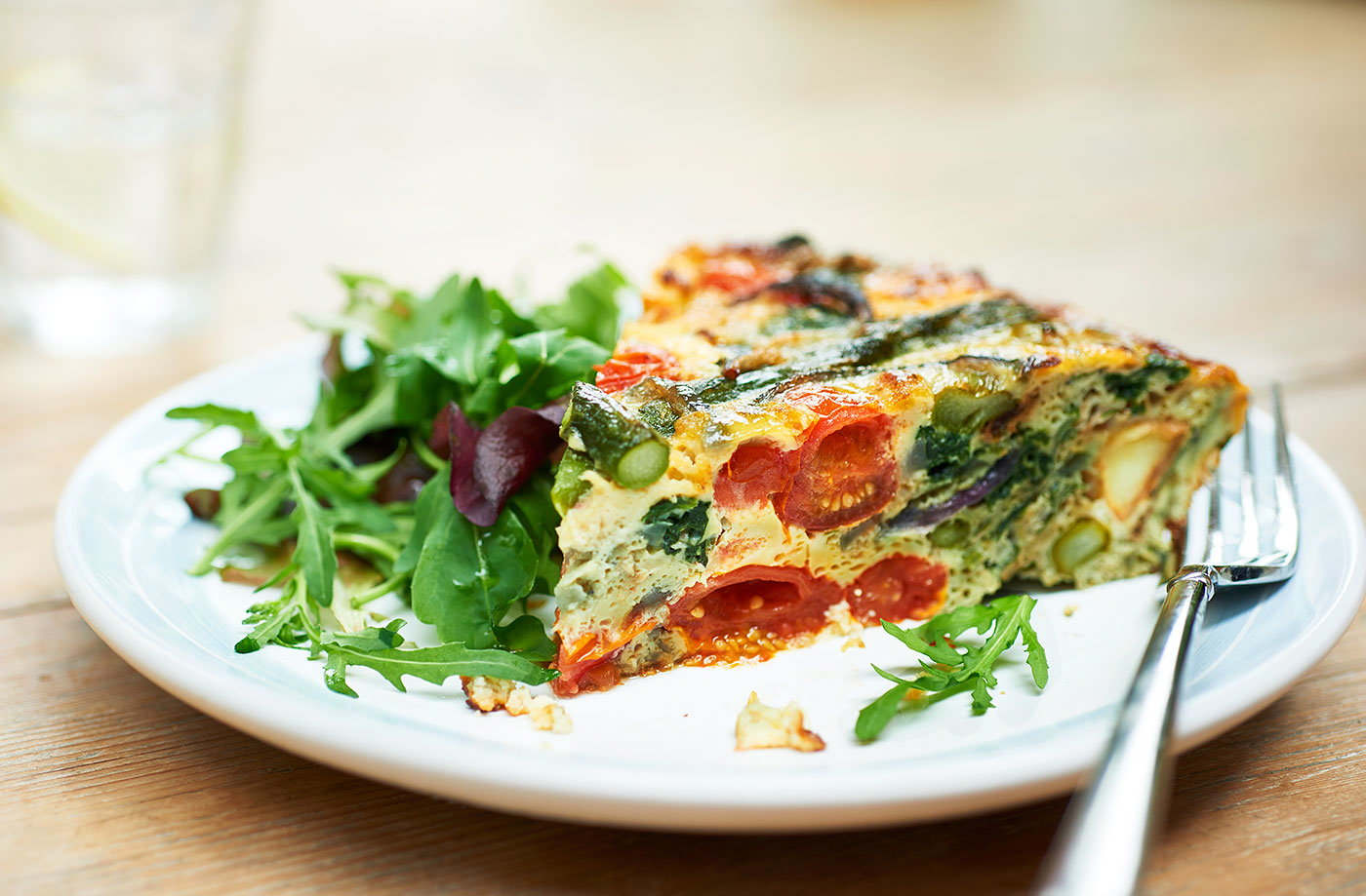 Asparagus, spinach and new potato frittata recipe