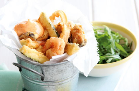 Fritto misto with smoky garlic aïoli   recipe