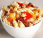 Fusilli with roasted peppers