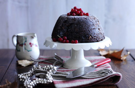 Gluten-free cranberry and pecan Christmas pudding