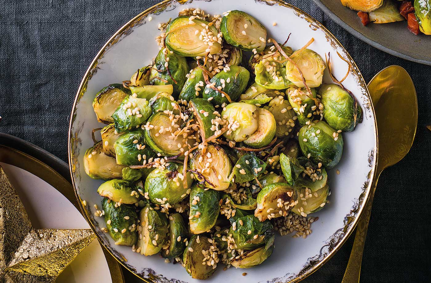 Ginger and sesame sprouts recipe