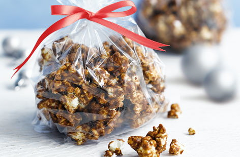 Popcorn gets a festive twist in this delightful edible gift, coated in treacle, golden syrup and a blend of warming spices. You can even make a big batch and store in an airtight container for up to a week in advance.