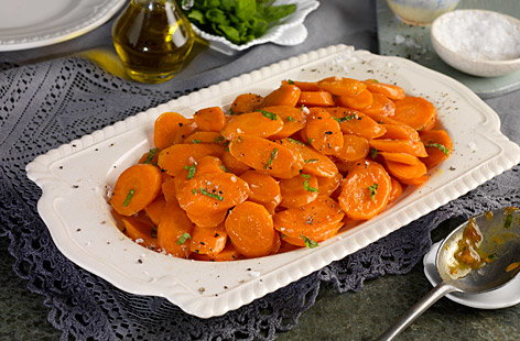 Tesco Finest glazed carrots with mint
