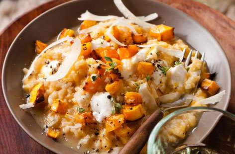Butternut squash & cheese risotto