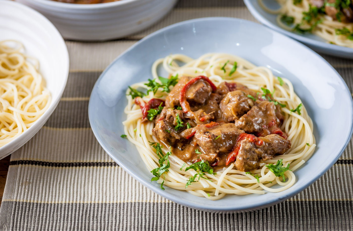 Geoffrey Smeddle's goulash and spaghetti recipe