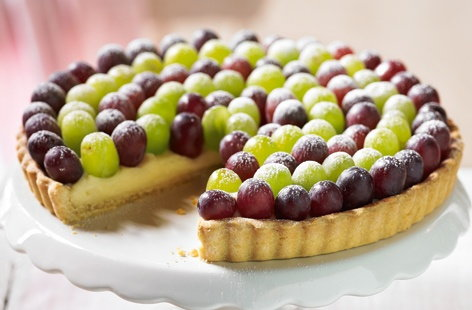 Citrus grape tart