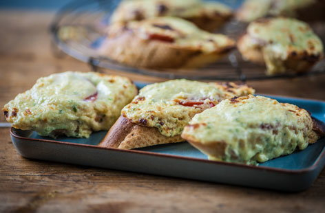 This rarebit recipe is so simple it can be cooked in barely 20 minutes. You can also double the quantities of the cheese mix and freeze ahead of inviting friends and family over.