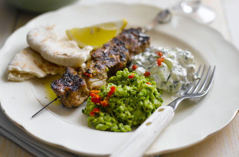 Grilled Lamb Skewers (h)