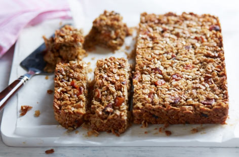 Apricot and sunflower flapjacks