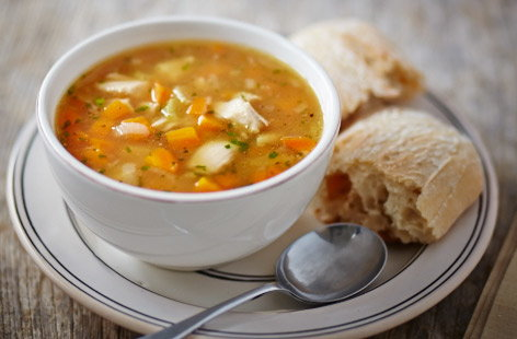 Chicken, carrot and ginger soup