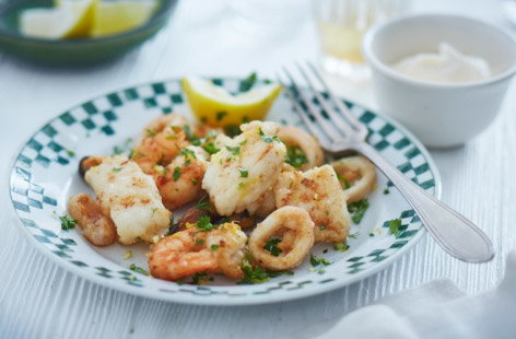 Fritto misto with gremolata