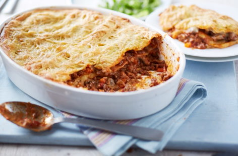 This delicious lasagne has all of the same comforting flavours, layered with a rich beef ragu, pasta sheets and a creamy white sauce. The only difference is it's completely dairy-free!