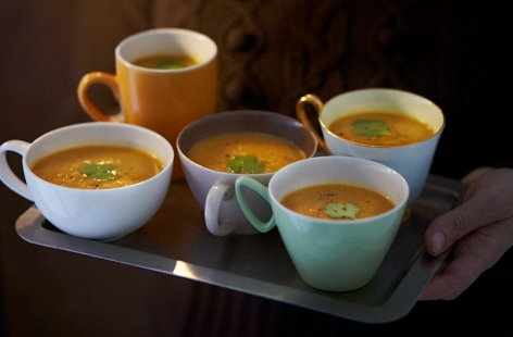 Spicy pumpkin broth