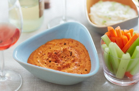 Easy red pepper houmous