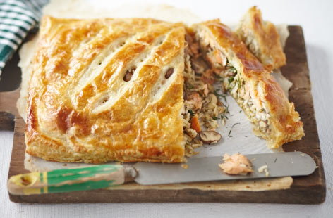 Coulibiac/Salmon and rice pie