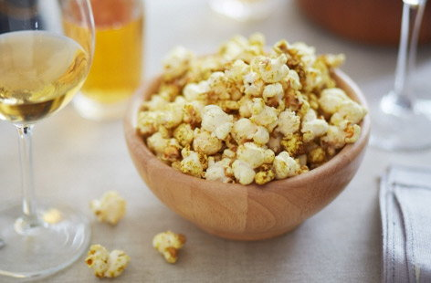 Cumin, cinnamon, paprika and black pepper put the 'posh' in posh popcorn whether you want a snack for a home cinema night or an appetiser that makes a change from crisps and dips. Five minutes and you're ready to go.