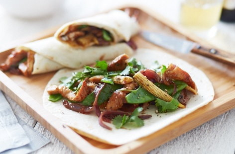 Sweet sticky turkey fajitas recipe