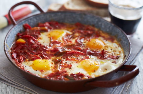 Tunisian eggs and peppers recipe