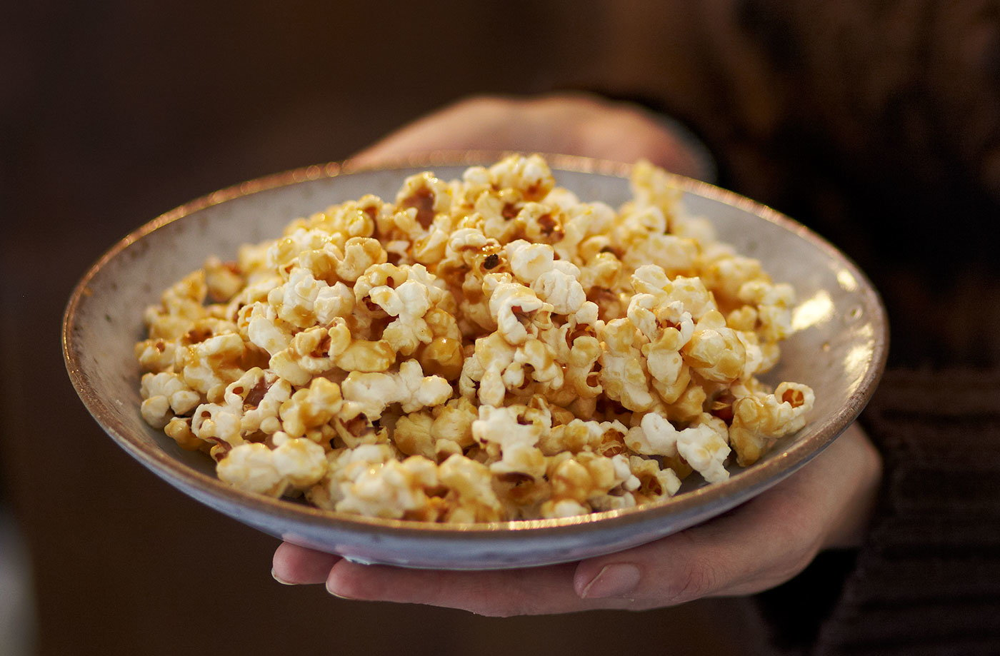 Sticky toffee butter popcorn recipe