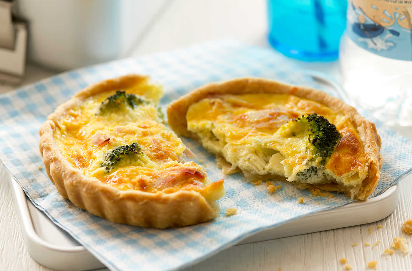 mini ham broccoli and cheese quiches tesco real food. Black Bedroom Furniture Sets. Home Design Ideas