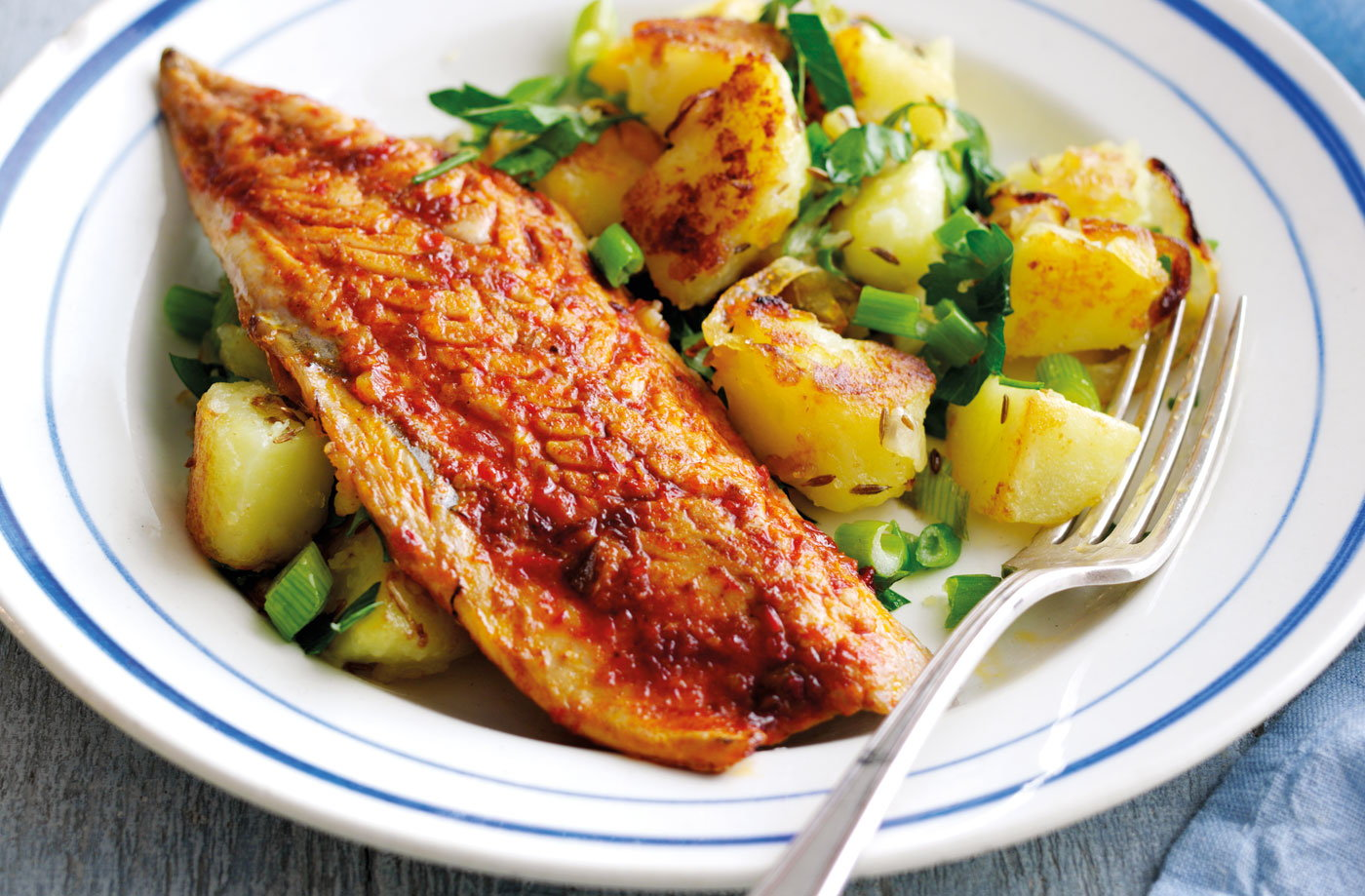 Harissa Spiced Mackerel With Cumin Potato Hash Tesco