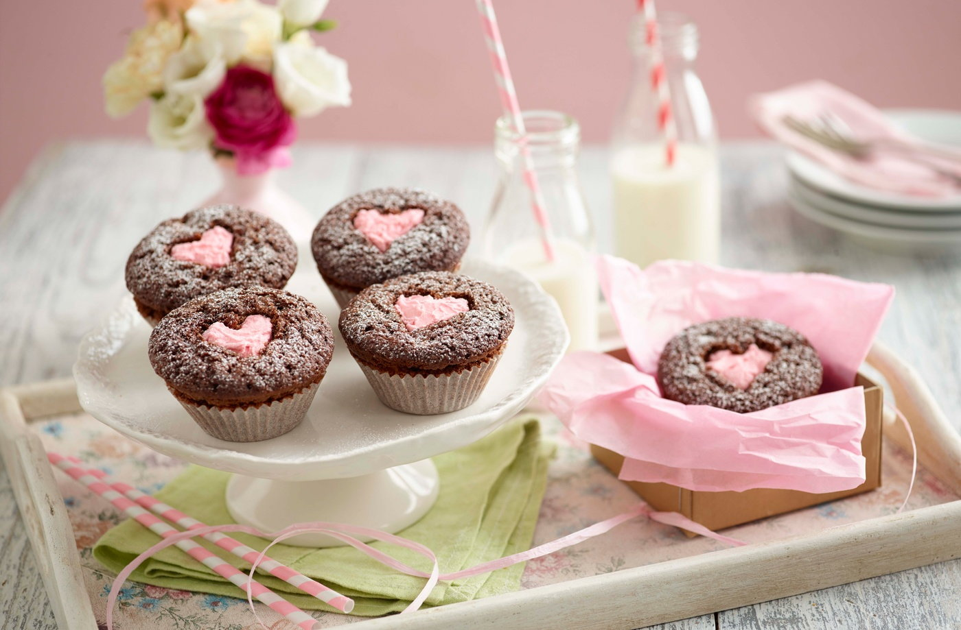 Heart Chocolate Cupcakes