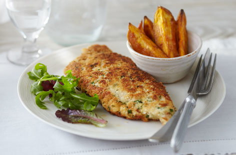 Chicken Schnitzels With Sweet Potato