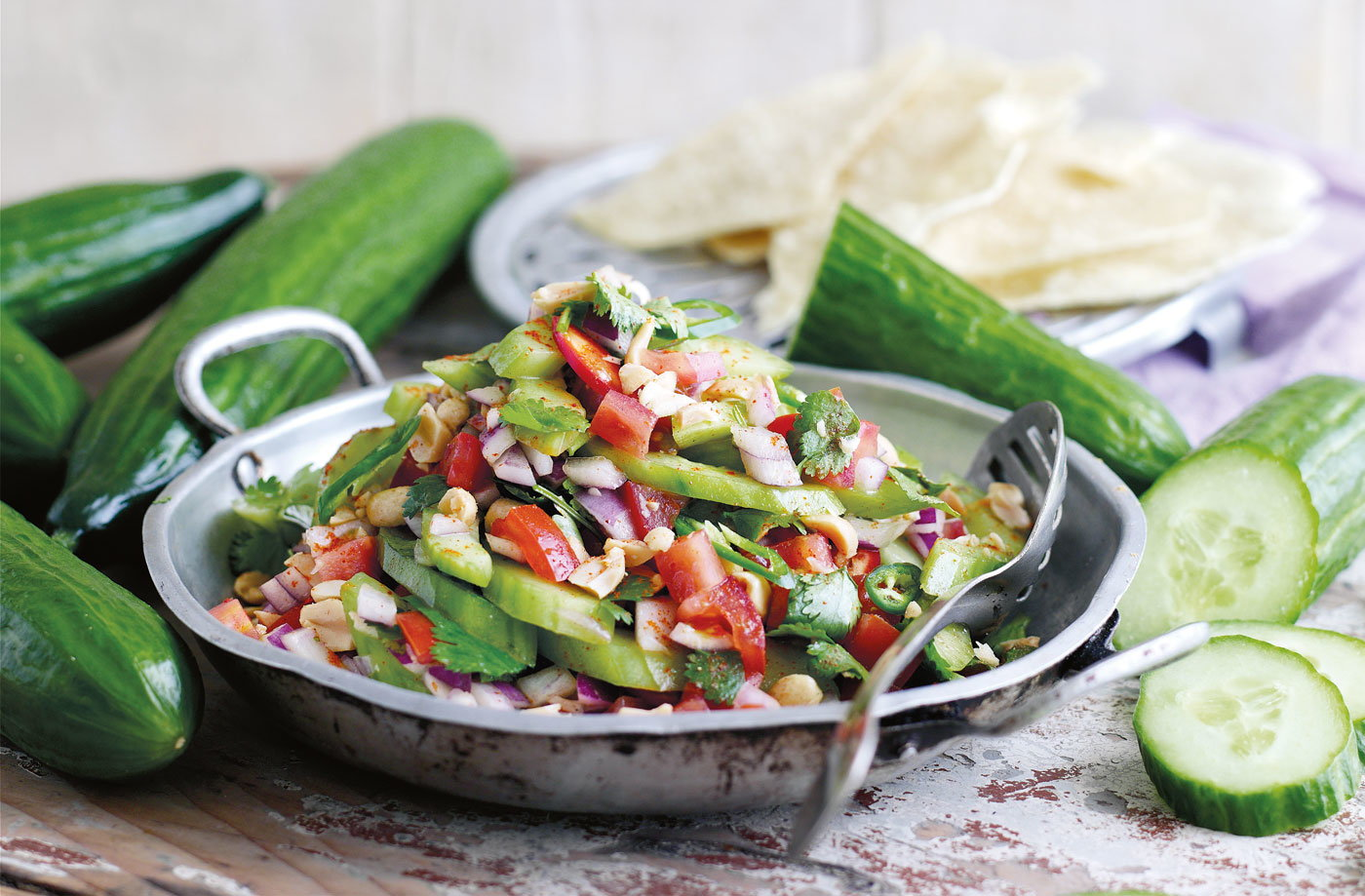 Try this deliciously fresh cucumber salad to sample the best of this ...