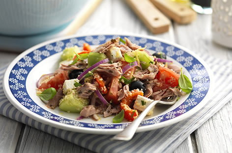 Tuna infusion Greek style salad | Tesco Real Food