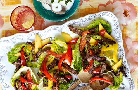 Jamaican beef and pepper salad HERO