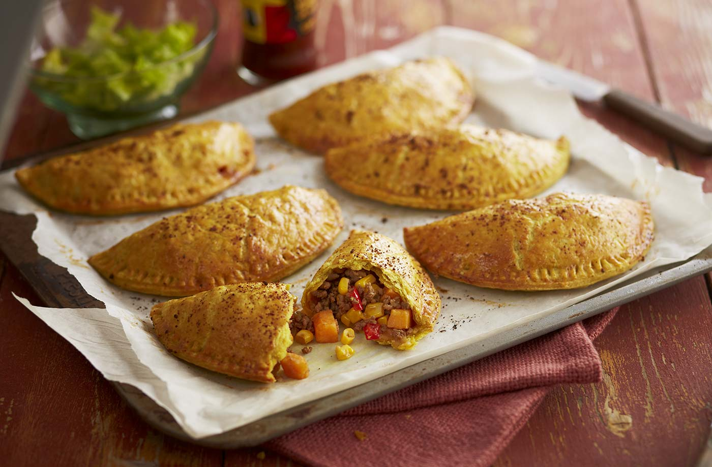 Caribbean recipes caribbean food ideas tesco real food jamaican spiced patties forumfinder Images