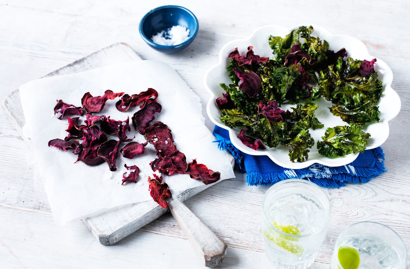 Kale and beetroot chips recipe