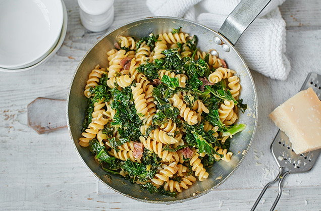 Monday: Kale, anchovy and lemon pasta