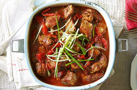 Korean pork and red pepper stew