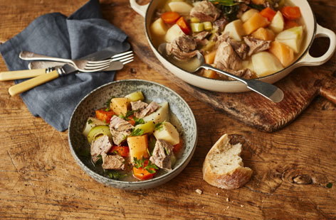 Serve up a real feast for the family this weekend with this tender lamb stew. Inspired by a traditional Welsh cawl, this recipe is packed root vegetables to make it a hearty and satisfying meal.