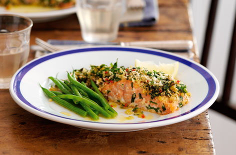 Lemon and chilli crusted salmon  THUMB