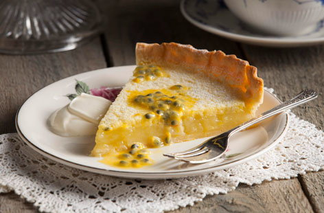 If you're looking for for lighter tasting desserts and puds, try this citrussy lemon and passionfruit tart