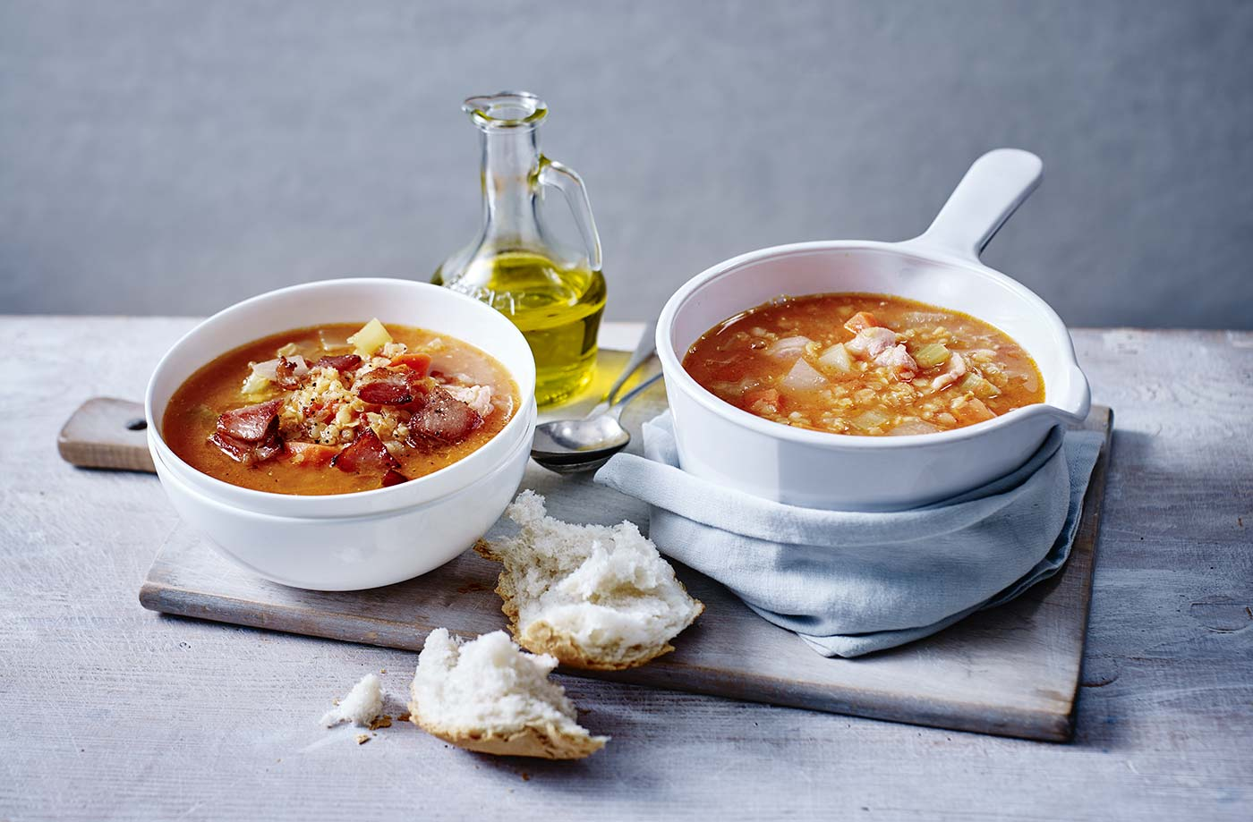 Hearty lentil and bacon soup recipe