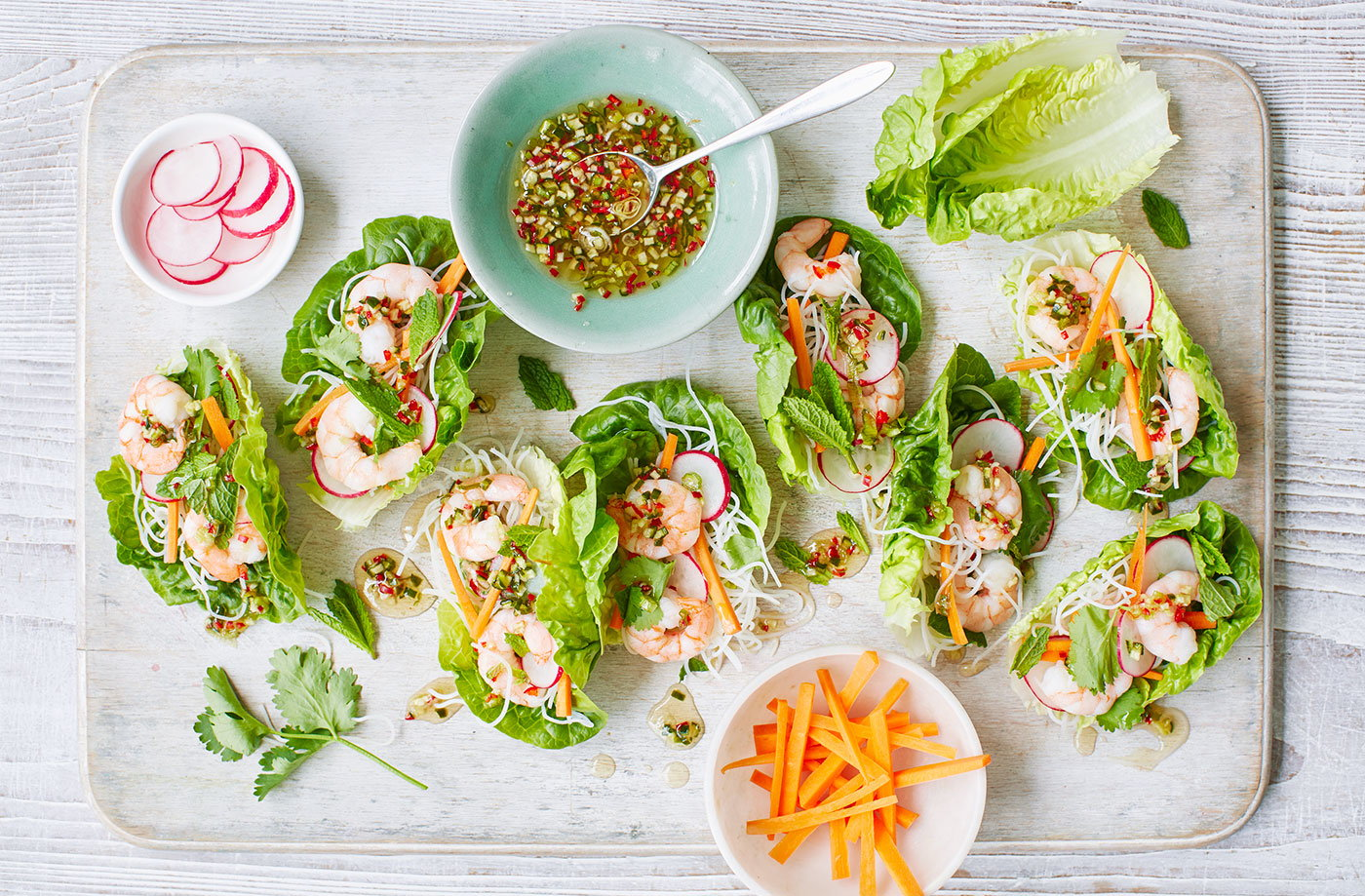 Lettuce cups recipe vietnamese recipes tesco real food forumfinder Choice Image