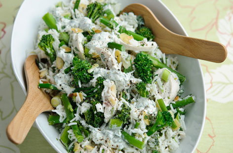 Lime and coriander chicken and Tenderstem rice salad HERO