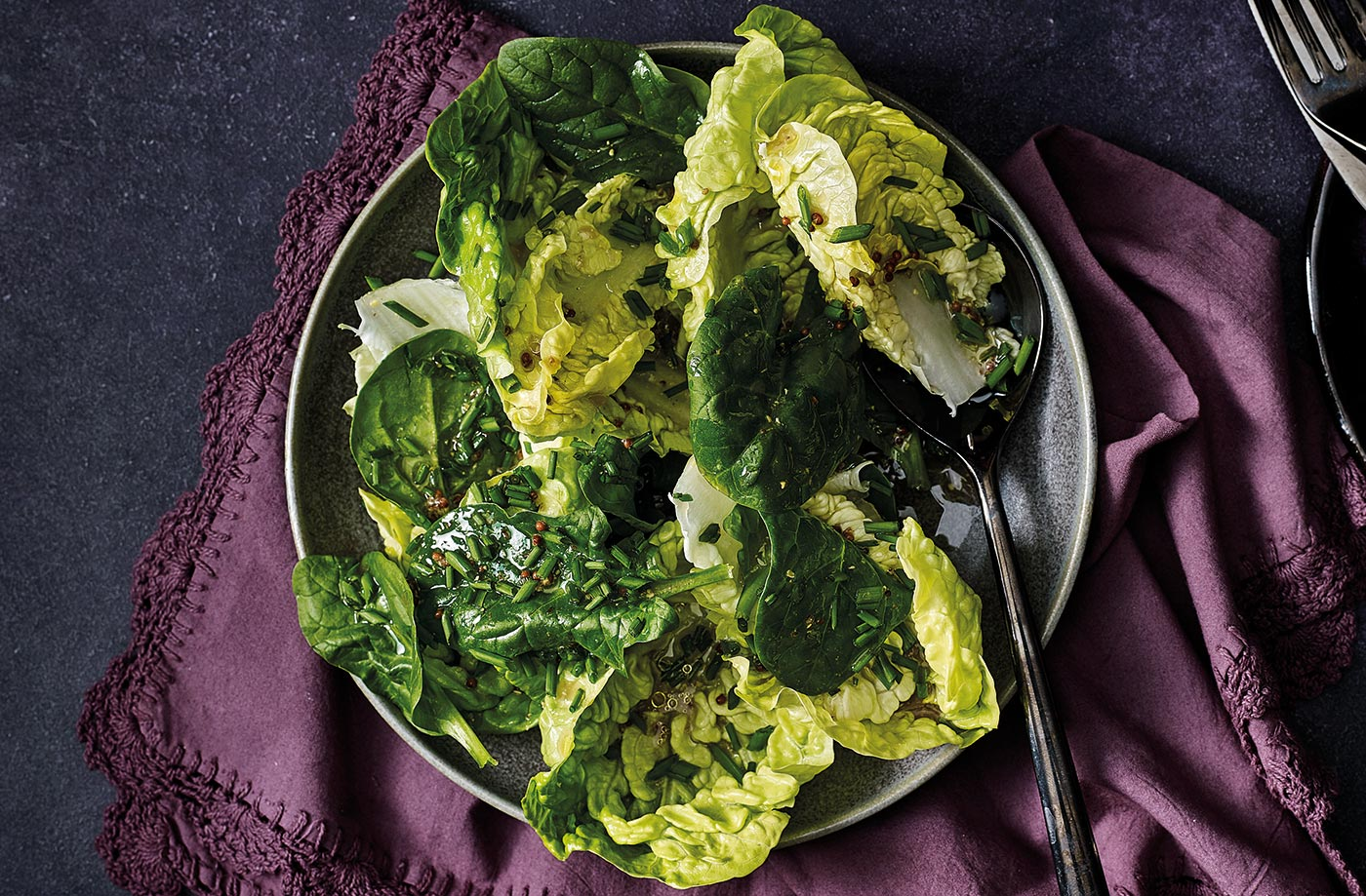 Little gem and spinach salad recipe