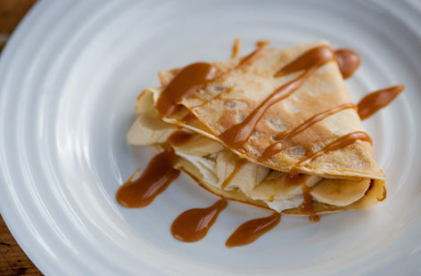 Marcello Tully's sticky toffee banana pancakes are delicious and the kids will love making and flipping the pancakes.