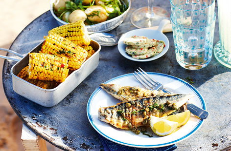 Mackerel with lemon and caper dressing and new potato salad HERO