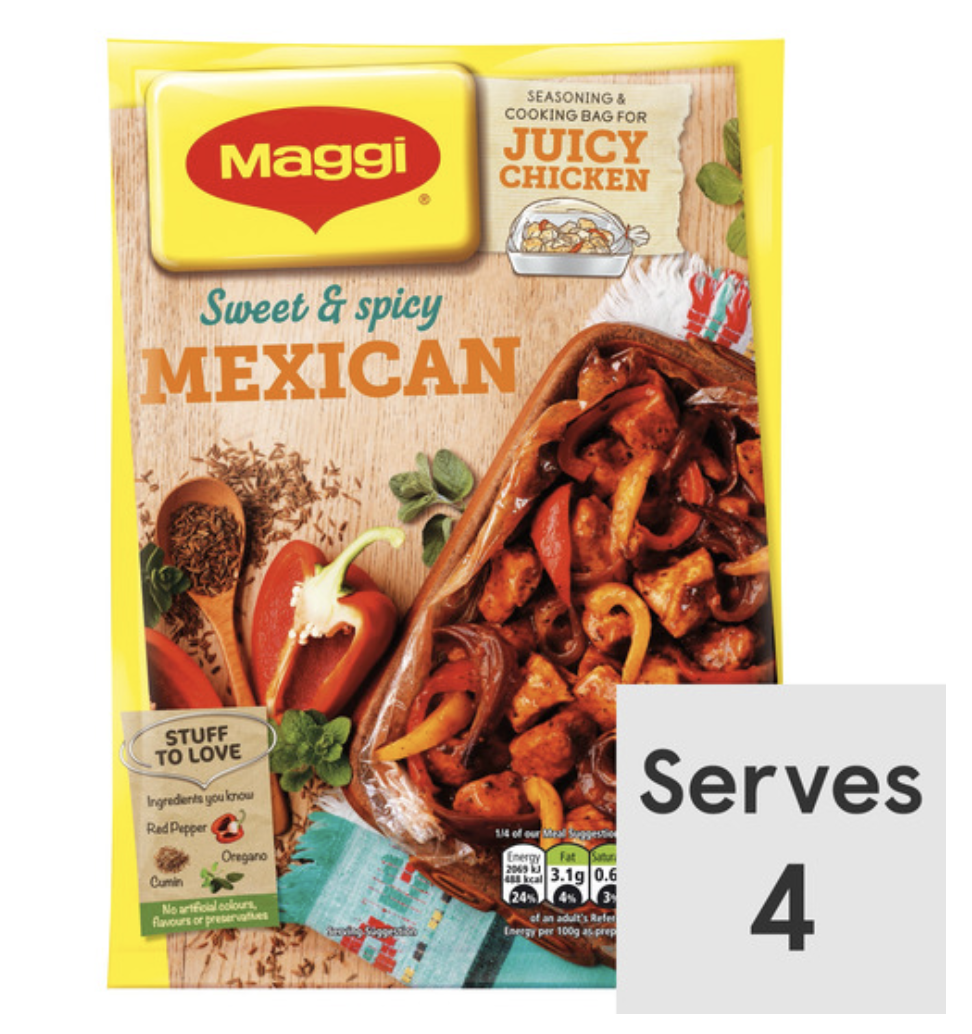Maggi So Juicy Mexican ChickenSweet and spicy